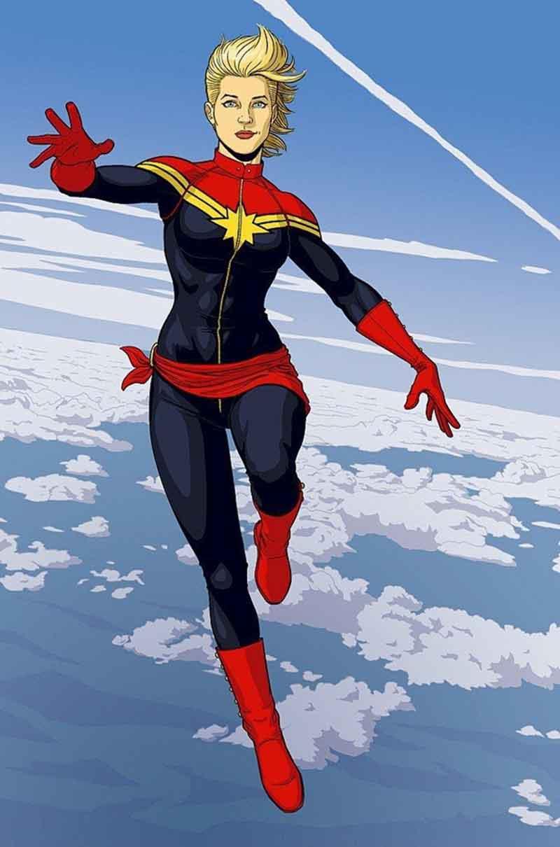 La Capitana Marvel de Marvel Comics