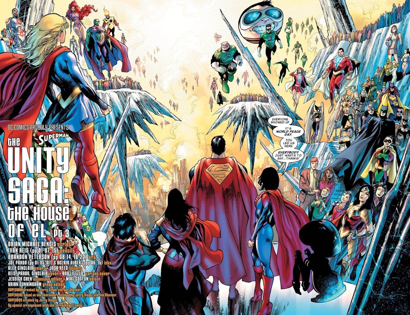Pagina doble del Superman #9